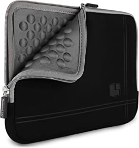 SumacLife Shock Absorbent Gray Black Laptop Sleeve Suitable for 14 inch Dell Inspiron 14 7460 7472, Latitude 14 5490 7490 5480 7480 5491