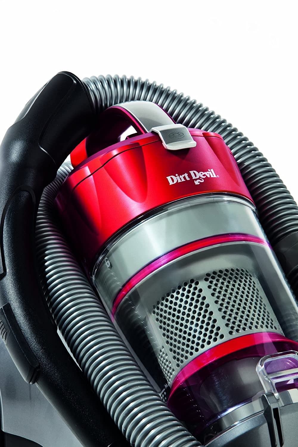 Dirt Devil M 5036-4 Infinity VS8 Turbo - Aspirador sin saco con sistema multiciclo (1600 W), color rojo: Amazon.es: Hogar