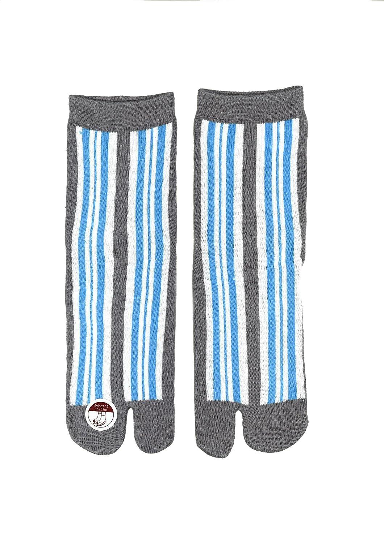 Japonés Ninja Tabi Flip- Flop calcetines: línea (azul ...