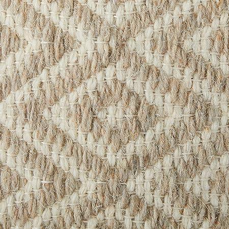 Klear Vu Diamond Pattern Wool Round Ottoman Pouf, 20 x 20 , 20 x 20 x 14, Gray