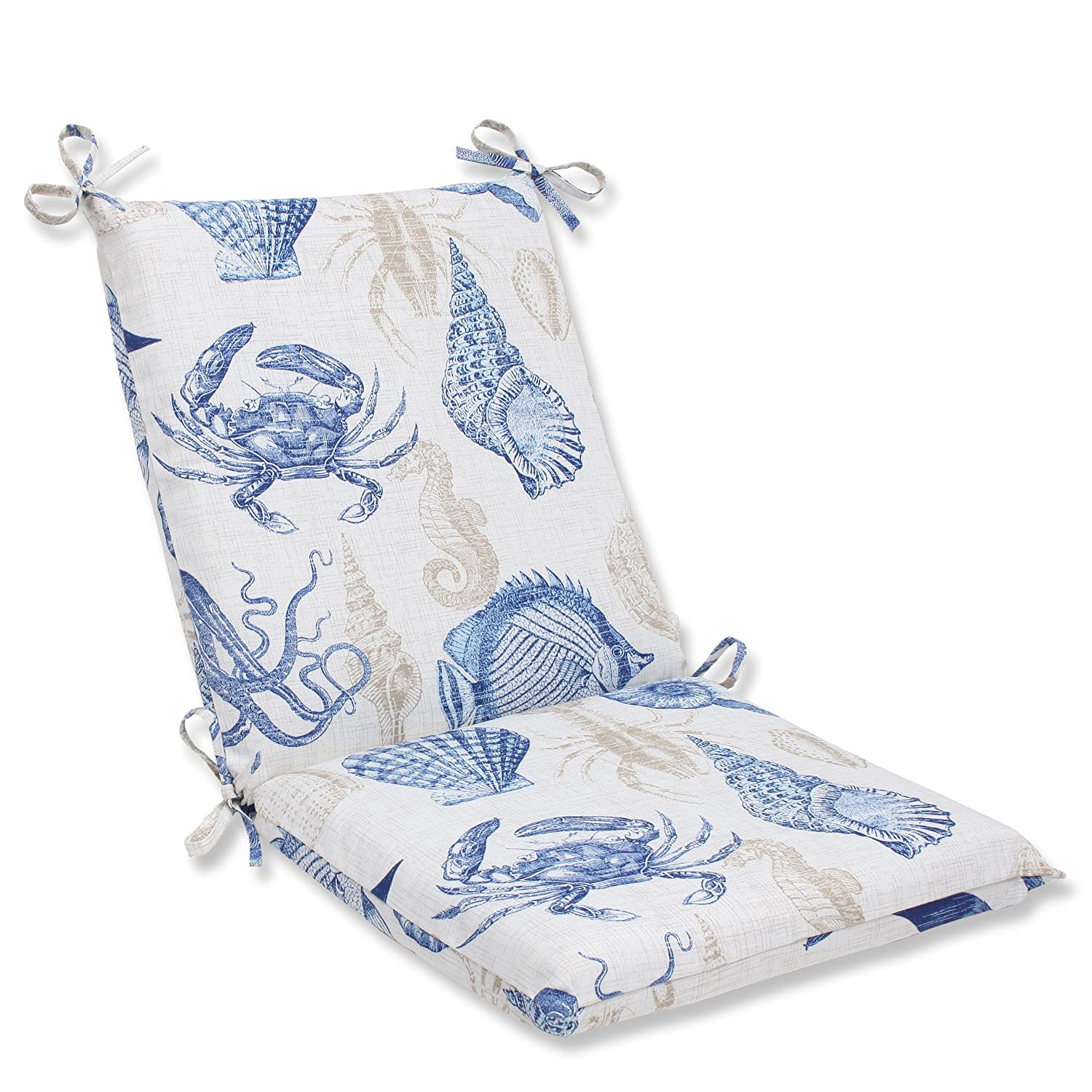 Pillow Perfect Outdoor Sealife Marine Squared Corners Chair Cushion