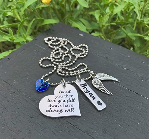 Personalized Memorial Necklace Loved One Remembrance Necklace In Memory of Jewelry Memorial Jewelry Remembrance Jewelry Memorial Gift