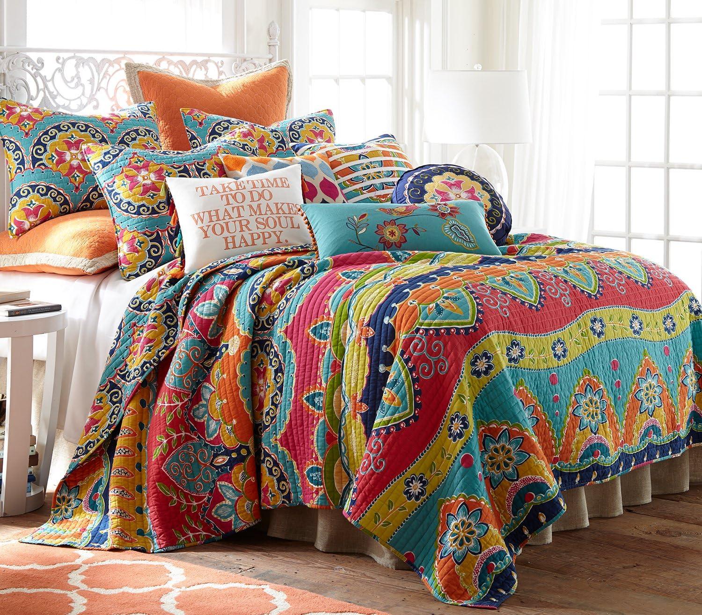 Levtex Amelie Full/Queen Cotton Quilt Set, Multi, Global