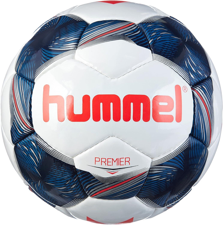 hummel Adultos Premier FB Fútbol, White/Vintage Indigo/Red, 5 ...