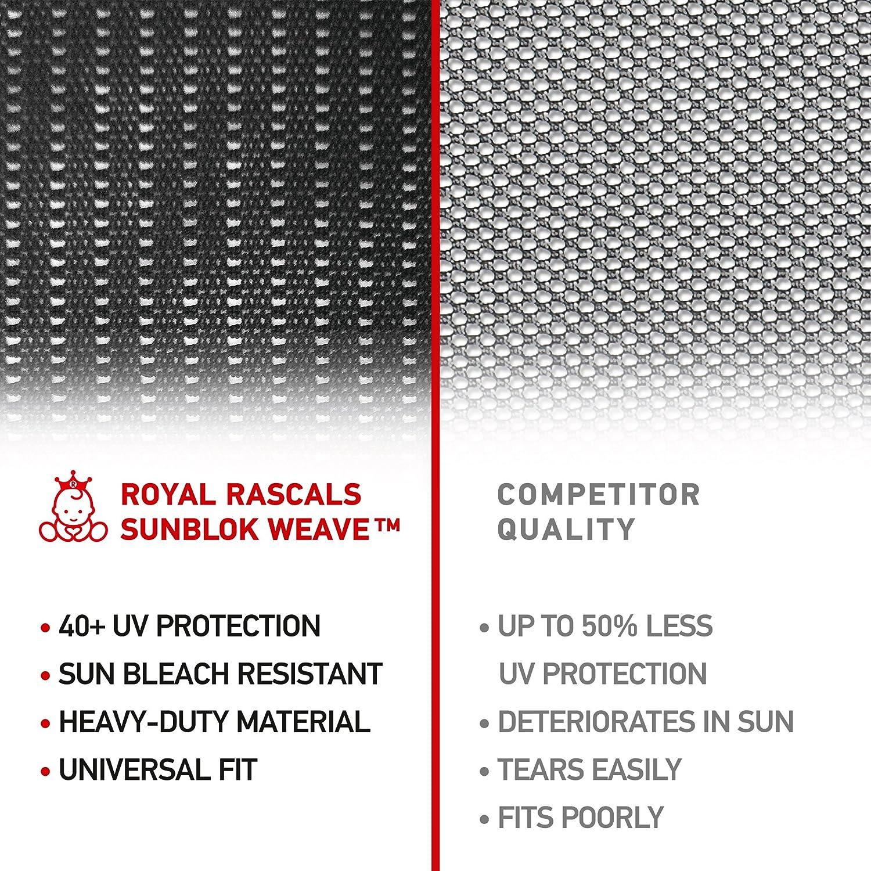 Misura Universale per Tutte le Macchine Calzino Finestrino x2 Materiale Premium ROYAL RASCALS Anti Abbaglio PROTEZIONE UV 40+ contro I dannosi raggi solari UV Copertura Finestra 100/%