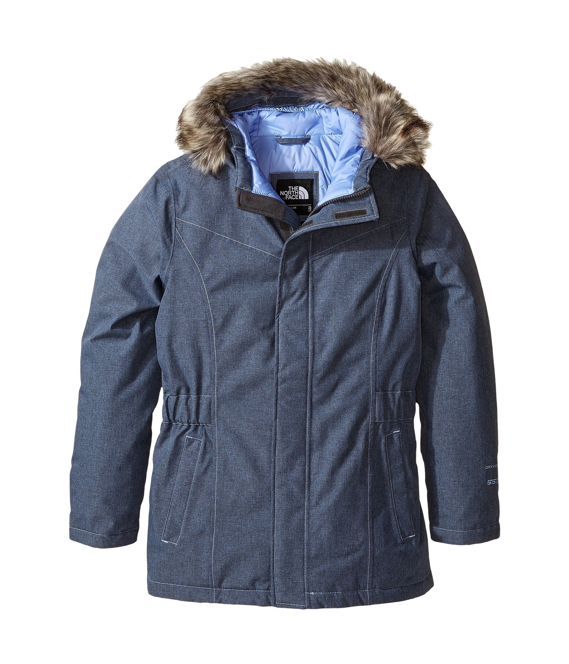 The North Face Greenland Down Parka Jacket Grapemist Blue Heather Girls L