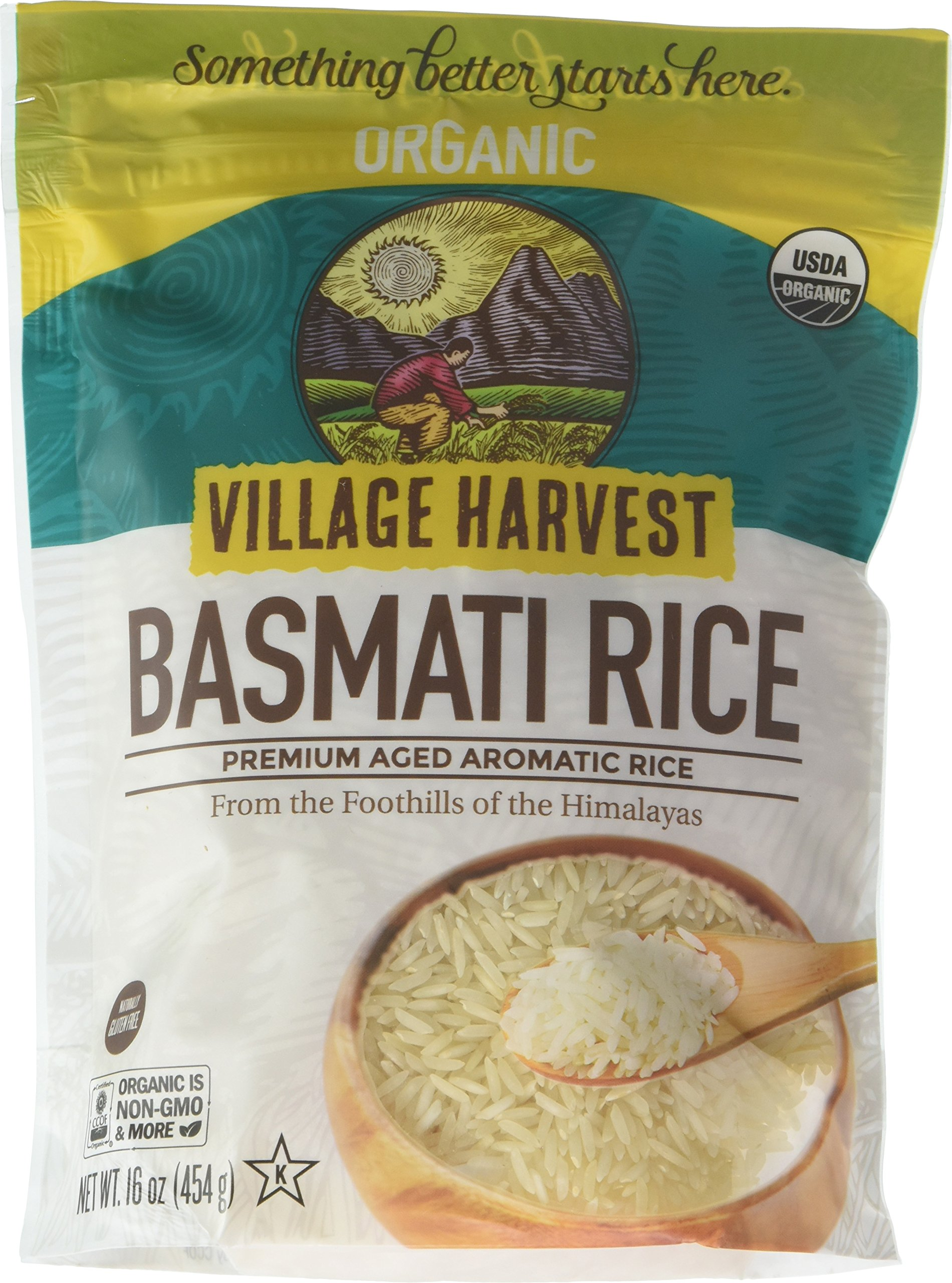 Village Harvest Organic Indian Basmati Rice, 16-Ounce (Pack of 6)