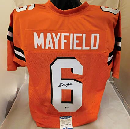 new style b9e5a be6ad Amazon.com: Baker Mayfield Signed/Autographed Cleveland ...