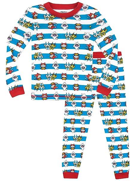 1d3c8e945 Yo-kai Watch - Pijama para Niños - Yokai Watch - Ajuste Ceñido  Amazon.es   Ropa y accesorios