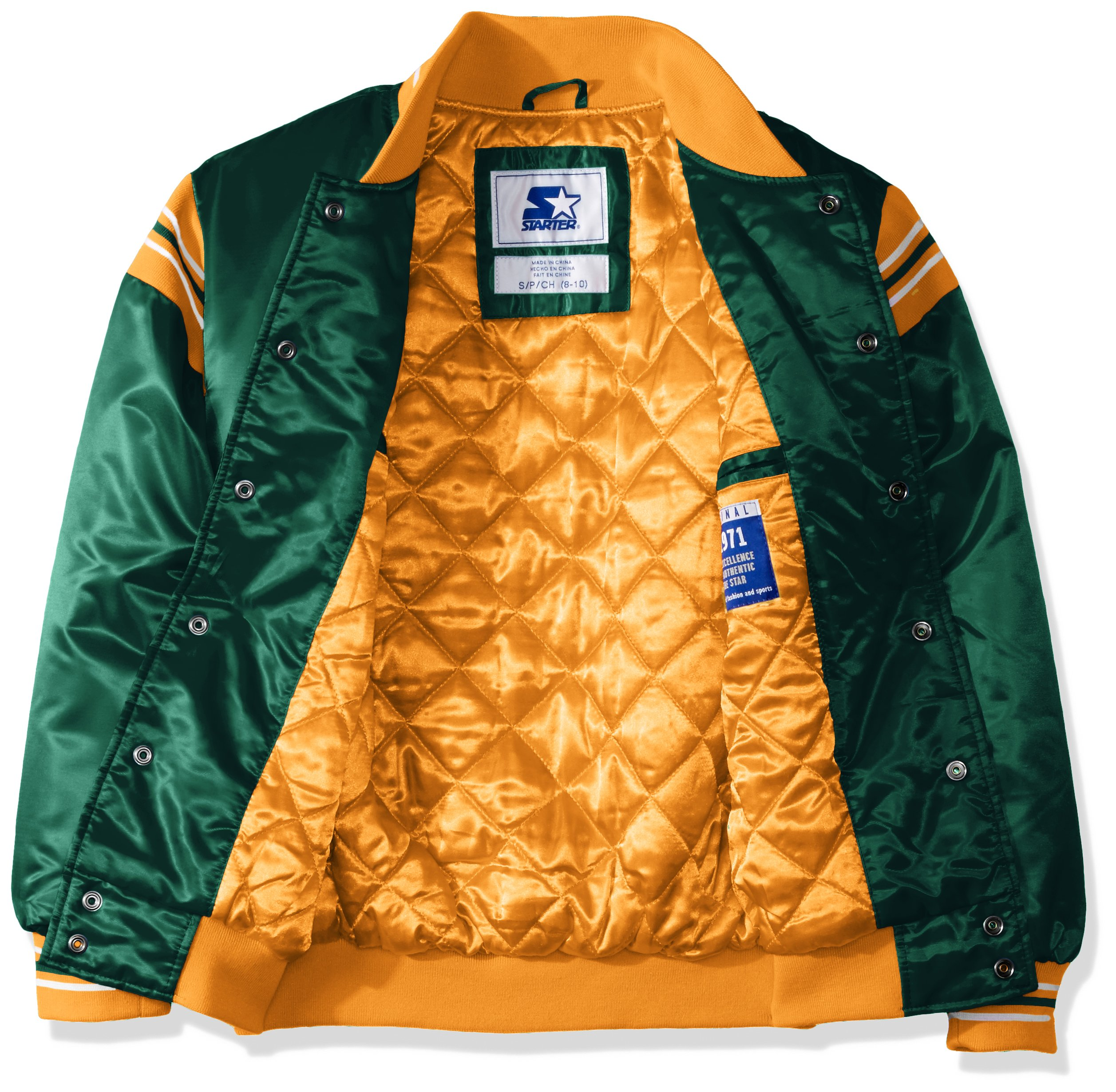 STARTER NBA Youth Boys The Enforcer Retro Satin Jacket - Boston Fanz 14c0cadce
