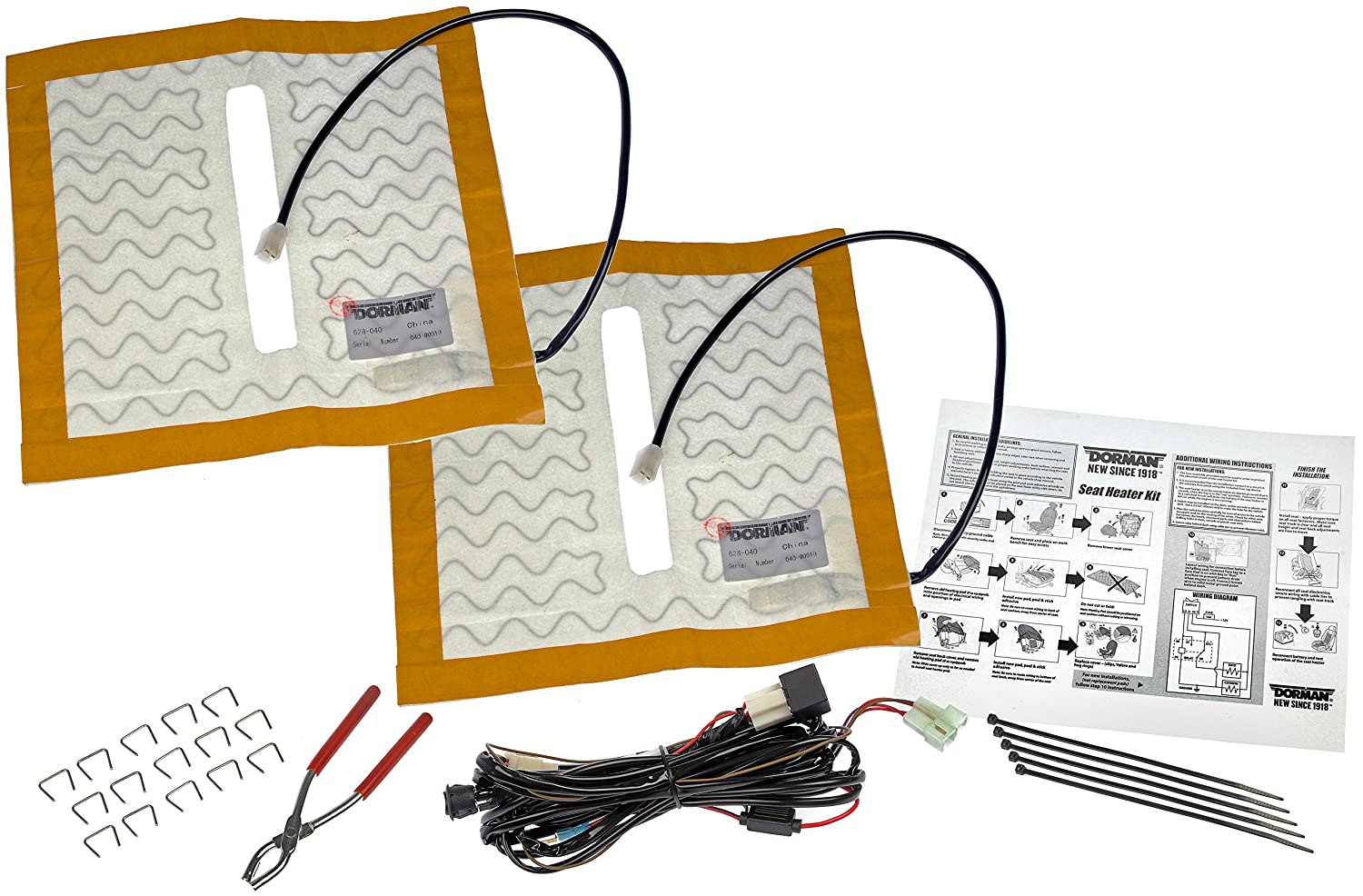 Dorman 628 040 Universal Seat Heater Kit Automotive Saab Heated Wiring Diagram