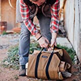 Angry Beaver Waxed Canvas Firewood Carrier Log