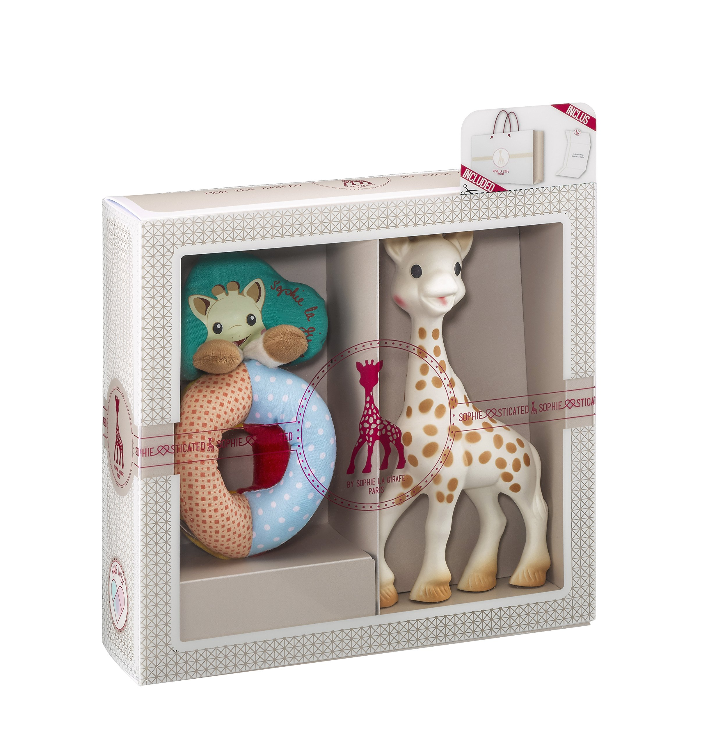Vulli Sophie la Giraffe Sophiesticated Tenderness Creation Birth Set Small #2 - Rattle and Teether