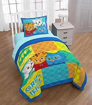 Daniel Tiger Treehouse Pals 3 Piece Sheet Set The Official Pbs Kids S Neighborhood Time To