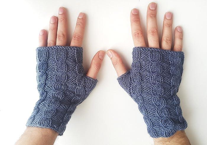 Amazon Mens Cable Knit Gloves Fingerless Gloves Men Mens