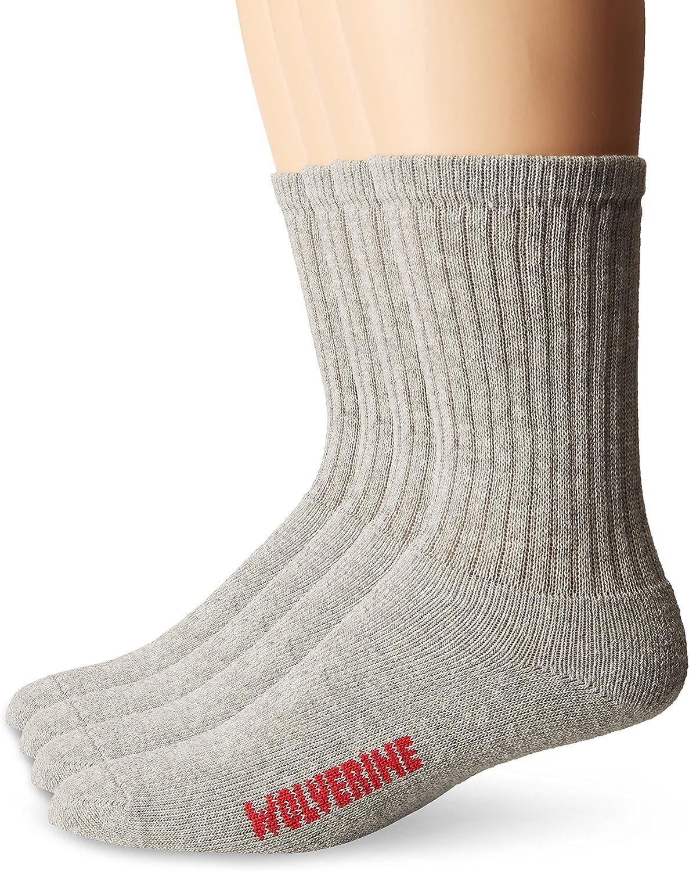 Wolverine 4 Pack Cotton Socks Mens W91102670-020