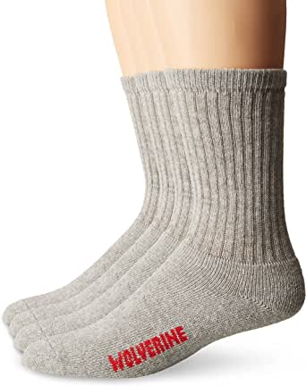 Wolverine Men's 4 Pack Crew Rib Stay Up Top Band Socks
