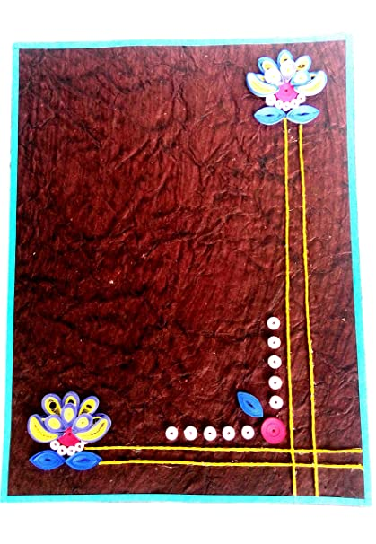 art box a4 3d quilling artwork assignment project file creative rh amazon in  quilling designs for file cover