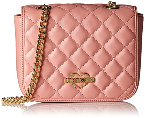 05a708ce7b Love Moschino Borsa Nappa Pu Trapuntata Rosa - Borse a spalla Donna, Pink,  14x20x6
