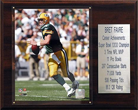 new style 3a023 fb201 NFL Brett Favre Green Bay Packers Career Stat Plaque