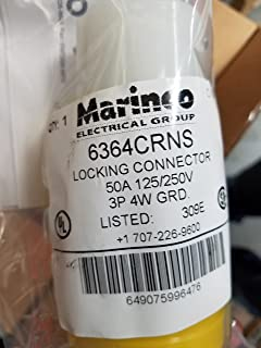 ParkPower by Marinco 50 Amp 125//250V 3 Pole 4 Wire Locking Female Connector /& Boot Marinco Electrical Group 6364CRV.VPK