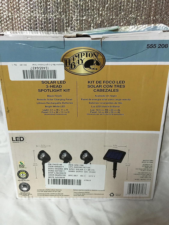 3-Light Solar Black LED Spot Light Kit