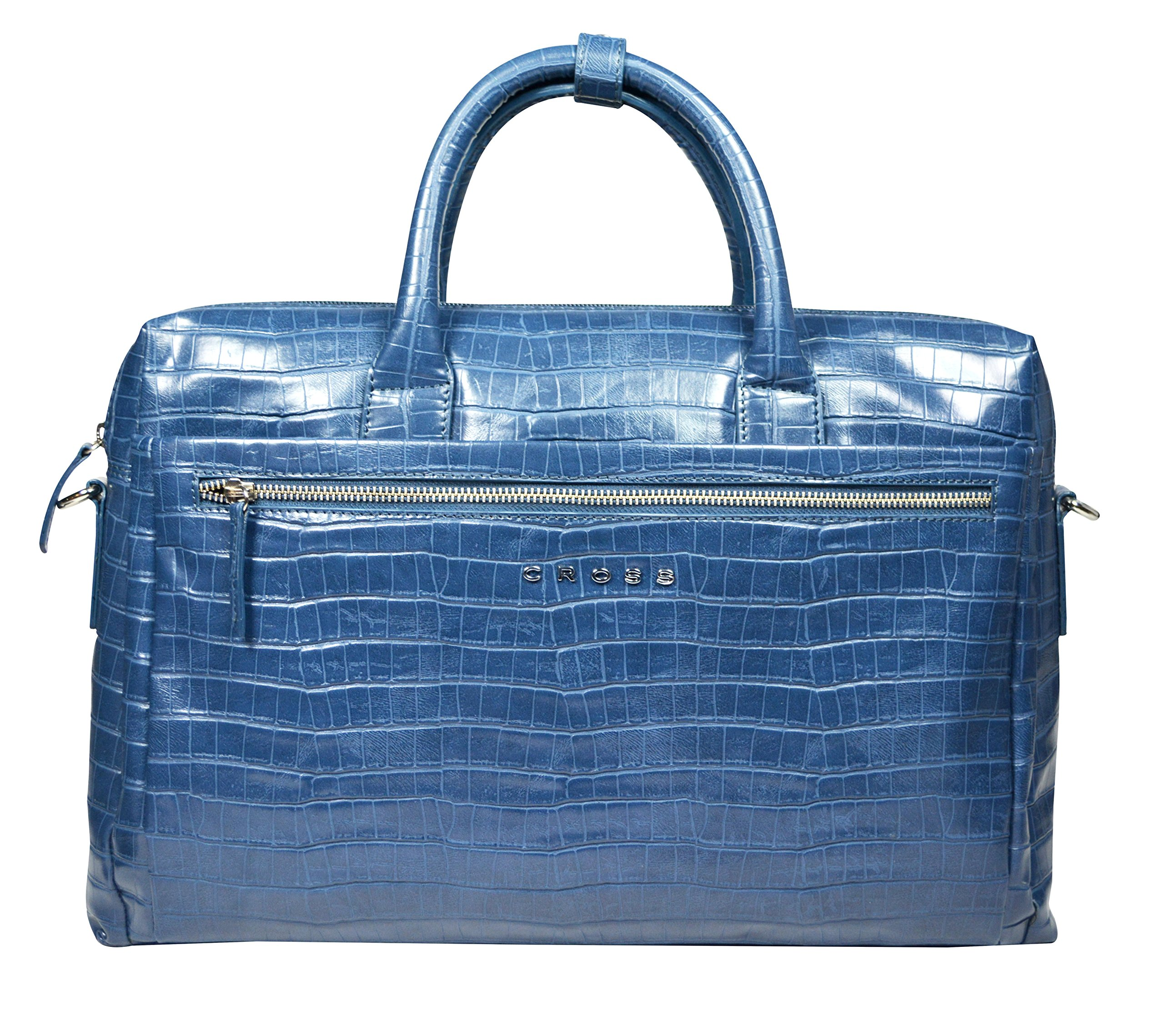 Cross Leather Laptop/Office/Business/Weekender Briefcase (Black8)