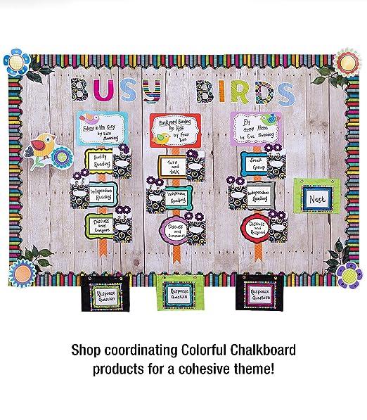 Amazon.com: Colorful Chalkboard Scalloped Borders: Carson ...