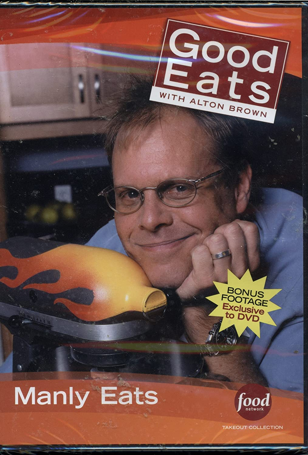 Food Network Takeout Collection DVD - Good Eats With Alton Brown Manly Eats Includes Raising the Steaks / Q (Pulled Pork) / The Man Food Shows