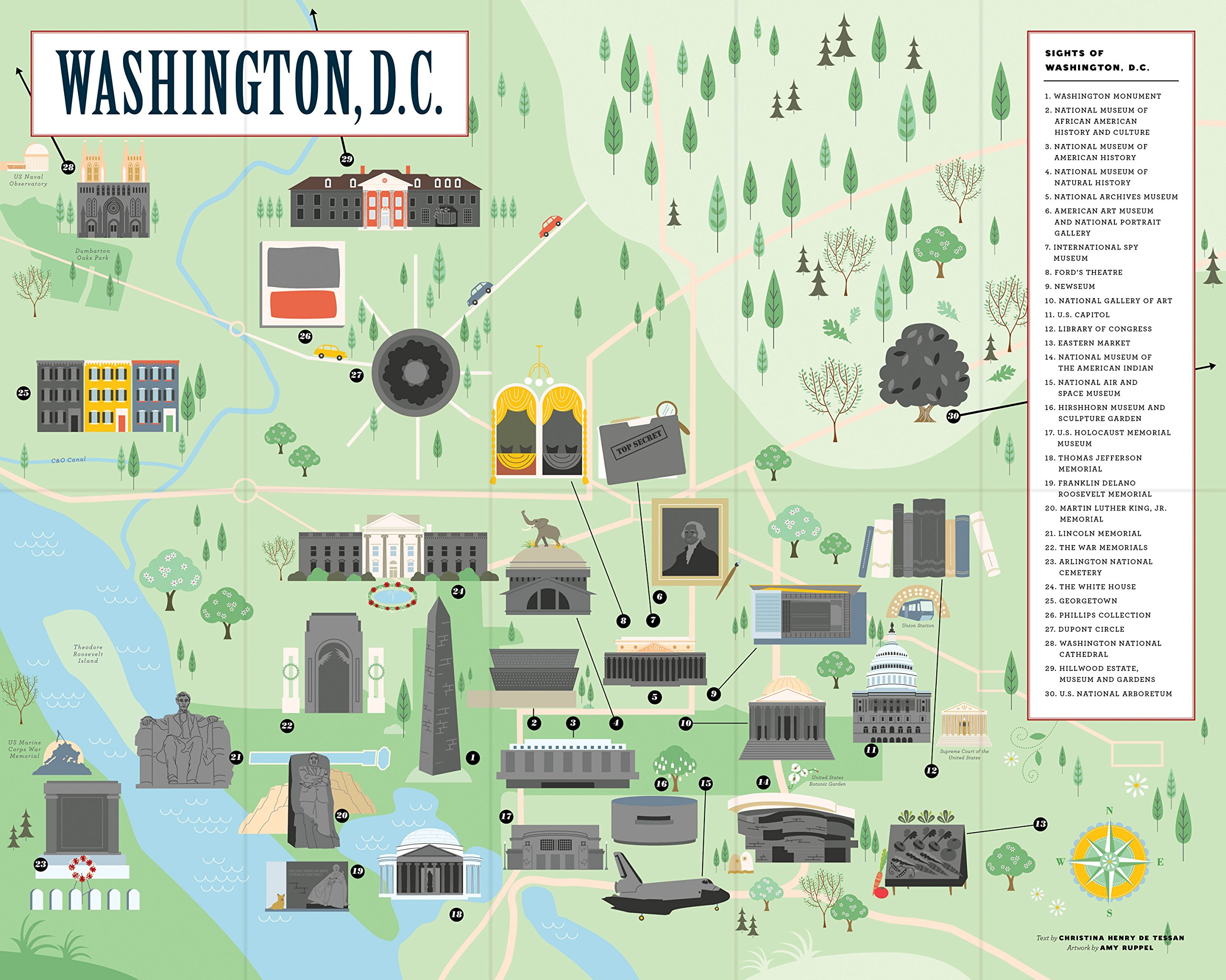 City Scratch-Off Map: Washington, D.C.: A Sightseeing ...