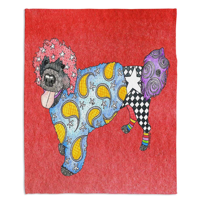 ブランケットウルトラソフトFuzzy 4サイズホーム装飾寝室ソファスローブランケットダイアノウチェデザインズ – Artist Marley Ungaro – Portuguese Water Dog Watermelon Toddler 40