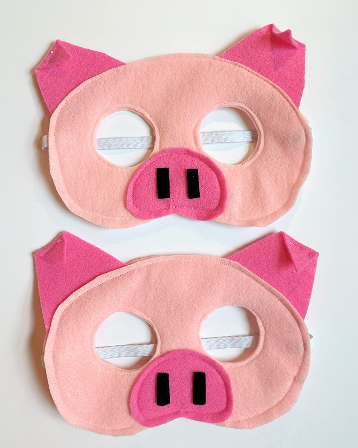 Felt Pink Pig Mask for Kids and Adults