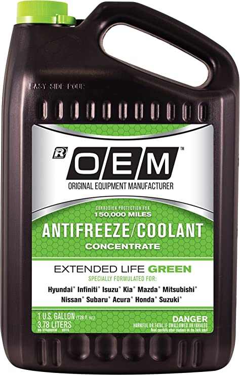 Recochem OEM 86-374GROEM Green Premium Antifreeze Concentrate Extended Life GREEN, 1 gallon,