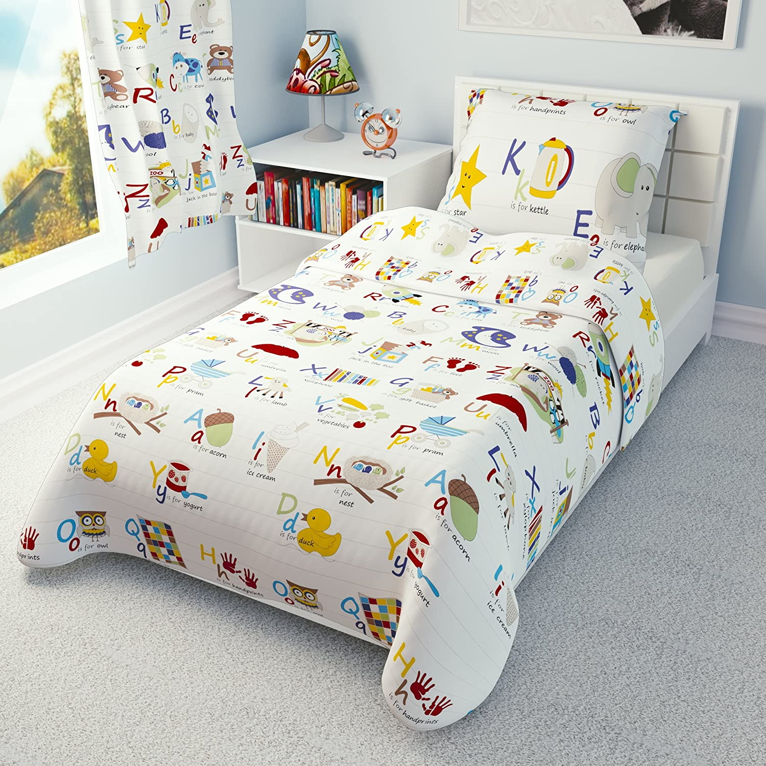 Babies Island IKEA Cot Bedding Duvet Cover Pillowcase 110 x 125 cm - many designs available (Alphabet) Babies-Island