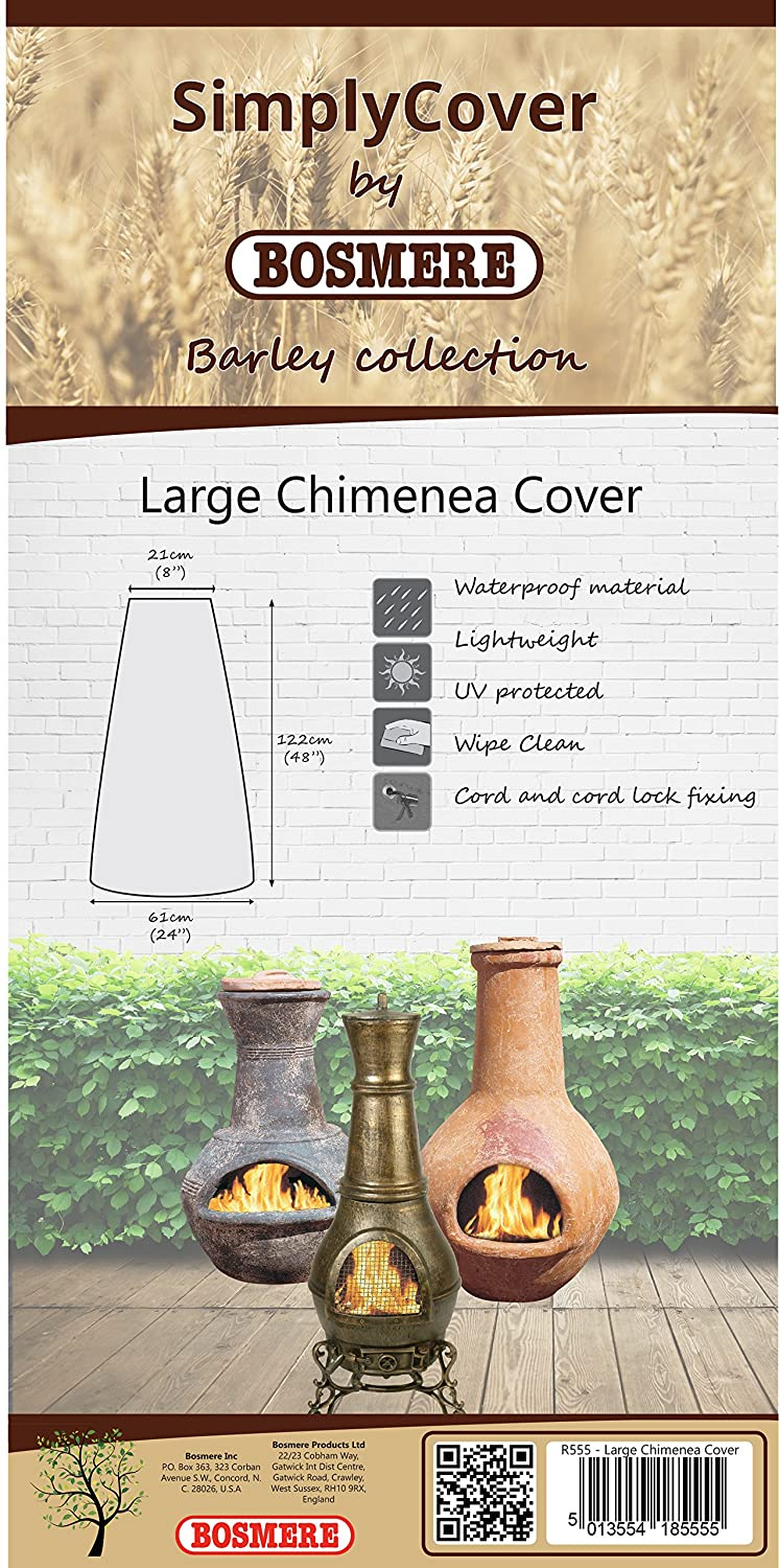 Bosmere R555 Simply Cover Barley (Beige) Large Chimenea Cover BOSMERE PRODUCTS LIMITED