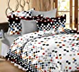 Ahmedabad Cotton Printed 160 TC Cotton Double Bedsheet with 2 Pillow Covers - Multicolour