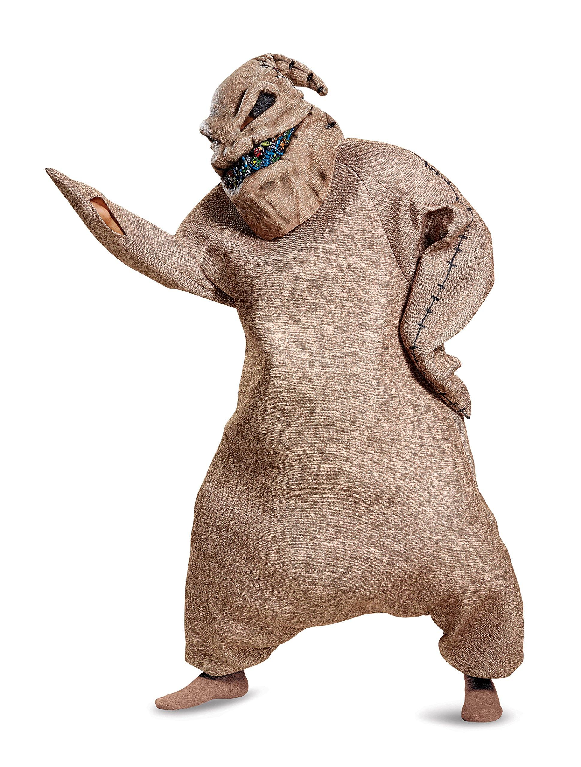 Disguise Men's Oogie Boogie Prestige Adult Costume, Brown, X-Large