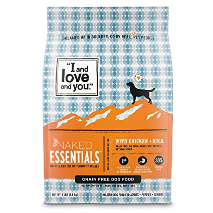 """""""I and love and you"""" Naked Essentials Grain Free Dry Dog Food"""