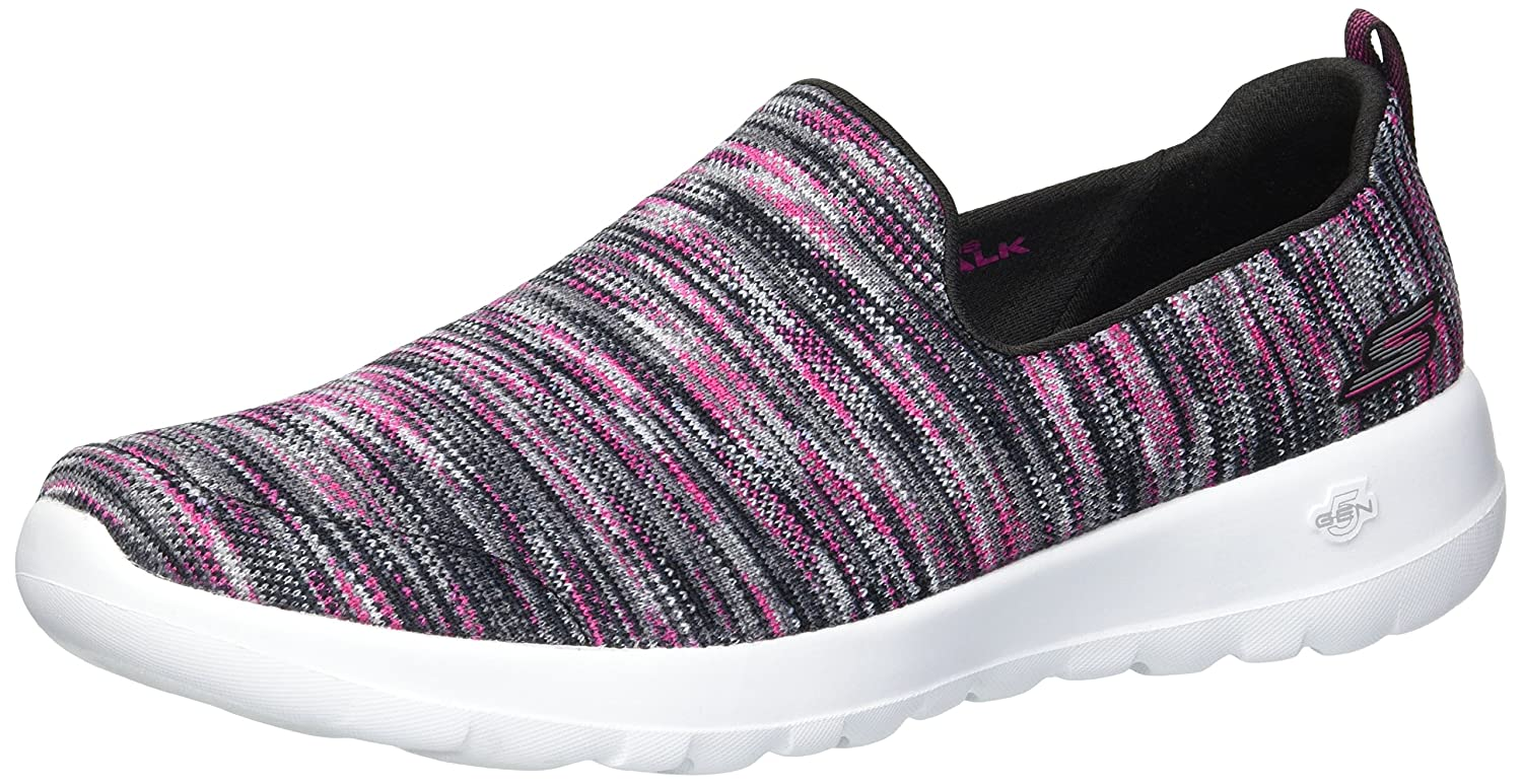 Skechers Women's Go Walk Joy-15615 Wide Sneaker B07537HQK7 9 W US|Black/Pink