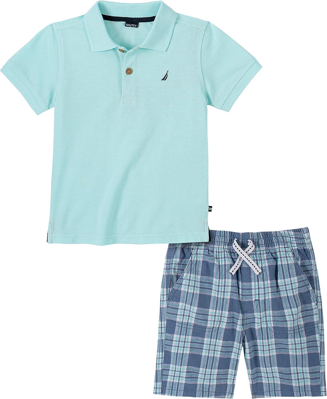Boys Polo Shorts Set Nautica Sets KHQ