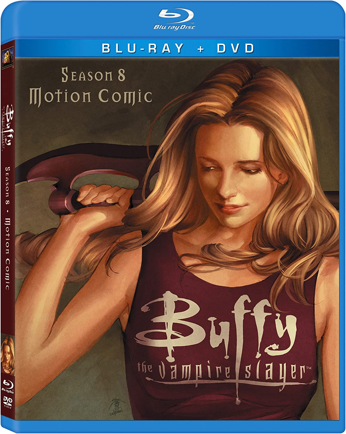 Buffy Vampire Slayer Season 8 Motion Comic Blu Ray Import Anglais Dvd Blu Ray Amazon Fr