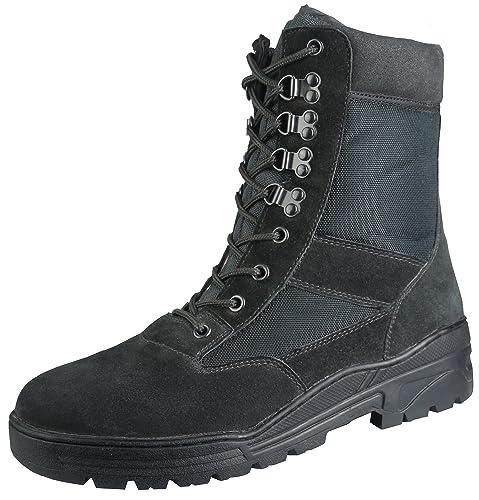 05002d8d97b Savage Island Combat Boots Black Suede
