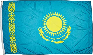 product image for Annin Flagmakers Model 973750 Kazakhstan Flag Nylon SolarGuard NYL-Glo, 5x8 ft, 100% Made in USA to Official United Nations Design Specifications