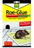 Roe 231185 - Trampa Adhesiva Ratones, 14.5 x 14 x 3 cm, Color Blanco