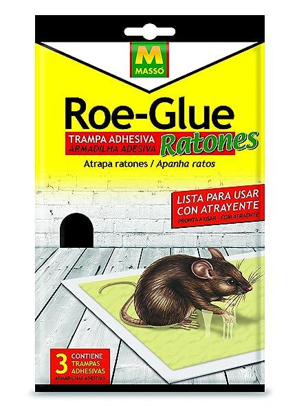 Roe 231185 Trampa Adhesiva Ratones, Blanco, 14.5x14x3 cm