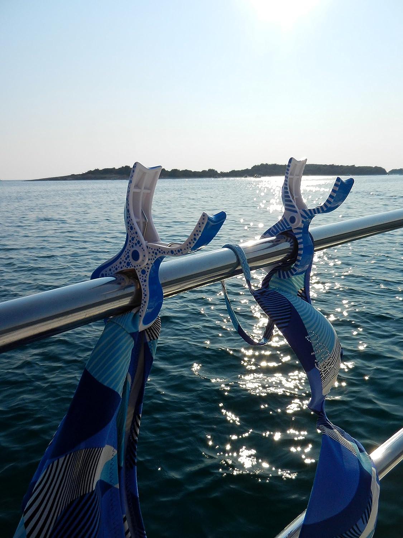 2X Azul Tuuli Accessories Summer Clips Pinza Playa Toalla Camping Jard/ín Kite Surf Tumbona Ropa Cochecito Accesorios