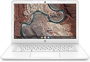 HP Chromebook 14-inch Laptop with 180-Degree Hinge, AMD Dual-Core A4-9120 Processor, 4 GB SDRAM, 32 GB eMMC Storage, Chrome OS (14-db0030nr, Snow White)