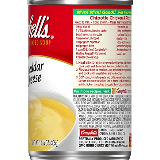 Amazon.com : Campbells Healthy Request Cheddar Cheese Soup, 10.75 oz : Grocery & Gourmet Food