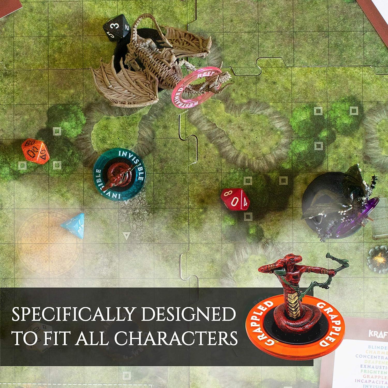 Anillos Marcadores de Condición de Dungeons & Dragons [96 Piezas] Fichas para Estado de Efectos de Hechizos (24 Condiciones y Colores) - Accesorios de Juego de rol Dragones y Mazmorras: Amazon.es: Juguetes