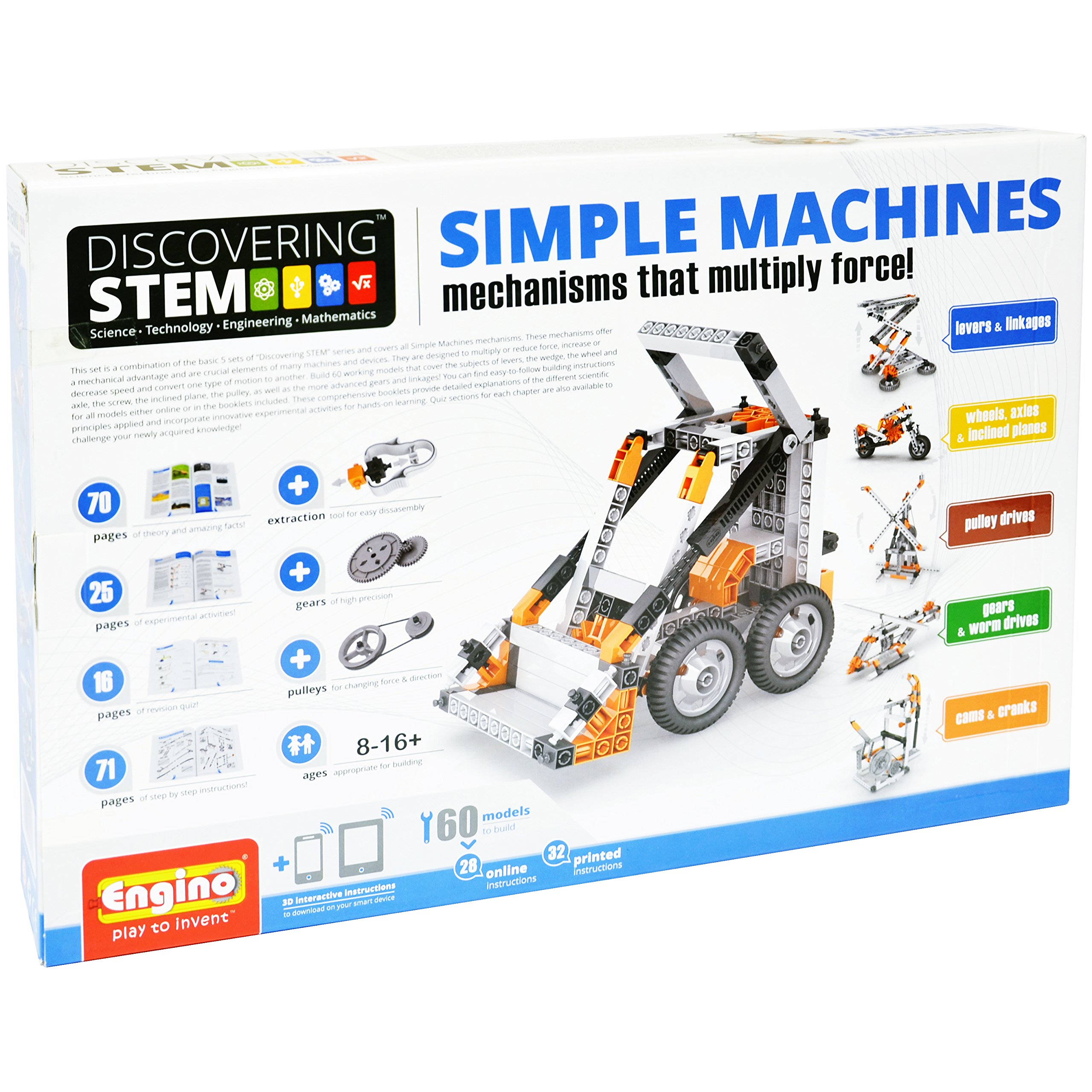 Engino Discovering STEM Simple Machines Mechanisms That Multiply Force Construction Kit by Engino (Image #17)